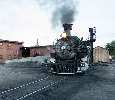 Photograph - Steam Locomotive In The Train Yard Of The Durango And Silverton Narrow Gauge Railroad In Durango by Carol M Highsmith
