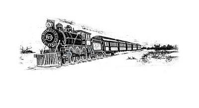 Photograph - Steam Locomotive  by Louis Ferreira
