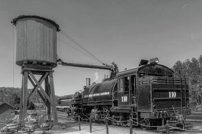 Photograph - Steam Locomotive Number 110  -  Bhc003bw by Frank J Benz