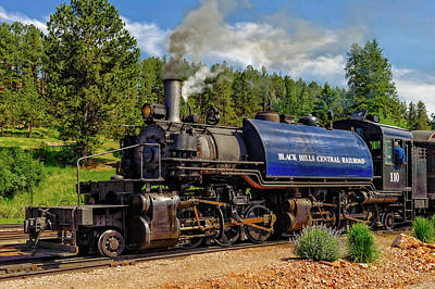 Photograph - Steam Locomotive Number 110  -  Bhc004 by Frank J Benz