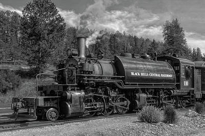 Photograph - Steam Locomotive Number 110  -  Bhc004bw by Frank J Benz
