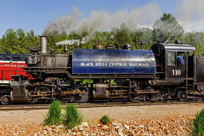 Photograph - Steam Locomotive Number 110  -  Bhc006 by Frank J Benz