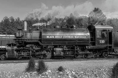 Photograph - Steam Locomotive Number 110  -  Bhc006bw by Frank J Benz