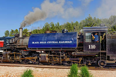 Photograph - Steam Locomotive Number 110  -  Bhc007 by Frank J Benz