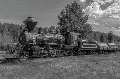 Photograph - Steam Locomotive Number 7  -  Bhc001bw by Frank J Benz