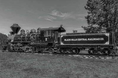 Photograph - Steam Locomotive Number 7  -  Bhc002bw by Frank J Benz