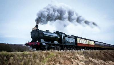 Virginia City Digital Art - Steam Locomotive To Virginia City  by David Dehner