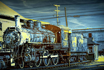 Photograph - Steam Locomotive Train Engine No.1395 In Infrared by Randall Nyhof