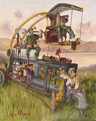 Painting - Steam Powered Rodent Remover by Jeff Brimley