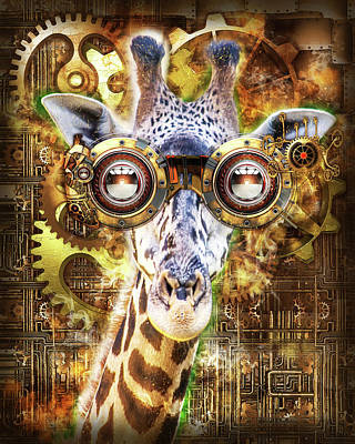 Digital Art - Steam Punk Giraffe by Anthony Murphy