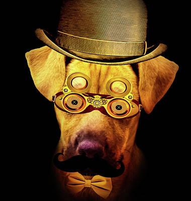Pup Digital Art - Steam Punk Pup by KaFra Art