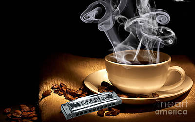 Coffee Mixed Media - Steam Roller by Marvin Blaine