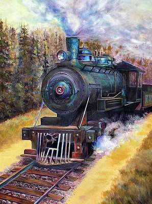 Painting - Steam Through The Pines by Bonnie Goedecke