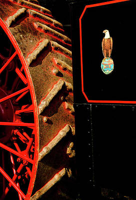 Photograph - Steam Tractor Wheel And Logo by Paul W Faust - Impressions of Light