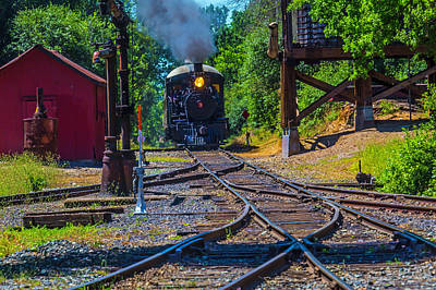 Old West Photograph - Steam Train Coming Down The Tracks by Garry Gay