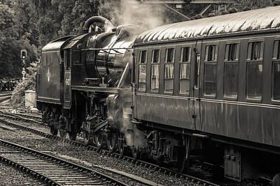 Photograph - Steam Train by David Warrington