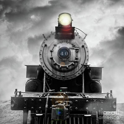 Photograph - Steam Train Dream Square by Edward Fielding