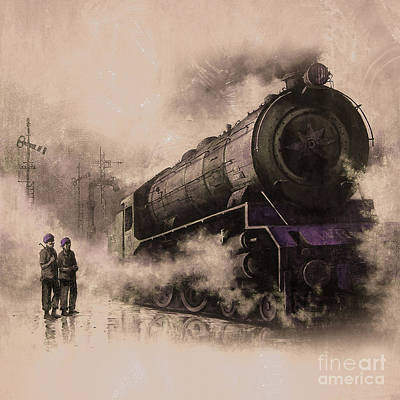 Steam Train Engine  Original by Gull G