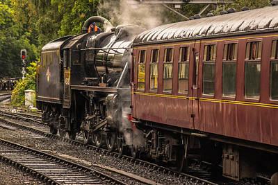 Photograph - Steam Train In Colour by David Warrington