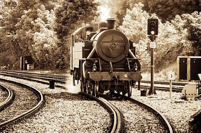 Photograph - Steam Train by Martina Fagan