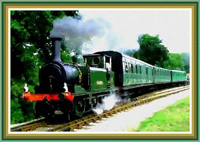 Nirvana - Steam Train Memories Catus 1 no. 5 H B With Decorative Ornate Printed Frame. by Gert J Rheeders