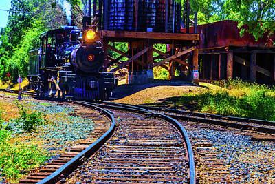 Steam Train No 3 On The Rails Art Print
