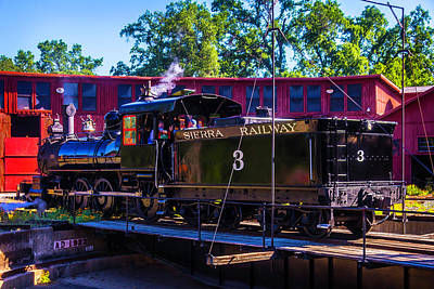No 3 Photograph - Steam Train No 3 On The Turntable by Garry Gay