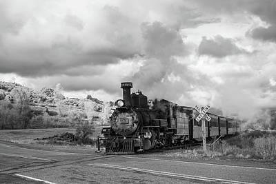 Photograph - Steam Train Railroad Crossing by Steven Bateson