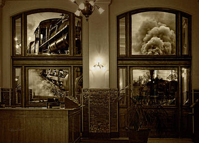 Photograph - Steam Train Reflections by Sharon Popek