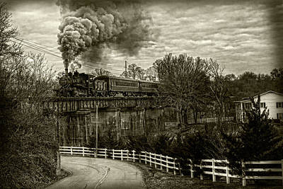 Photograph - Steam Train Rolling by Sharon Popek