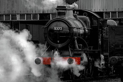 Photograph - Steam Train Selective Colour by Ken Brannen