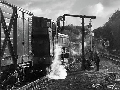 Photograph - Steam Train Taking On Water In Mono by Gill Billington