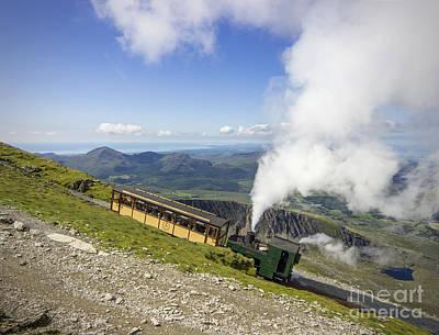 Railway Locomotive Photograph - Steam Train To Snowdon by Ian Mitchell
