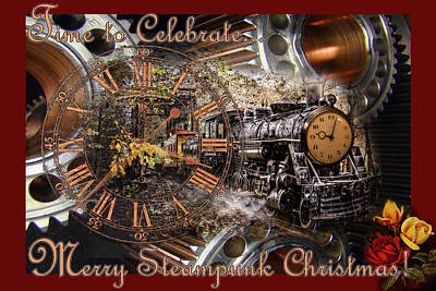 Photograph - Steam Train's Coming For A Steampunk Christmas by Debra and Dave Vanderlaan