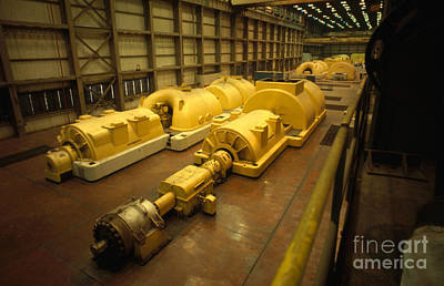 Steam Turbine Wall Art - Photograph - Steam Turbine And Generator In Power by Bill Longcore