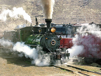 Colorado Railroad Museum Photograph - Steam Up by Ken Smith