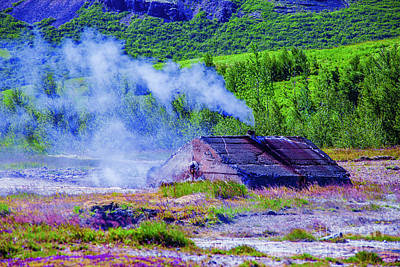 Photograph - Steam Vent by Rick Bragan