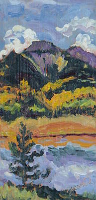 Zanobia Painting - Steamboat Lake State Park Sand Mountain From Bridge Island by Zanobia Shalks