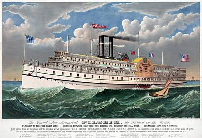 Photograph - Steamboat: Pilgrim, C1883 by Granger