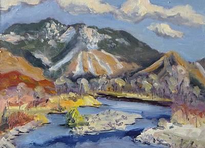 Ski Painting - Steamboat Ski Area by Zanobia Shalks