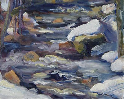 Painting - Steamboat Springs Colorado Fish Creek Winter by Zanobia Shalks