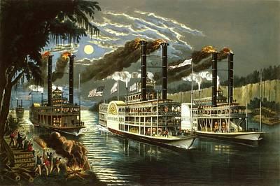Steamboat Times Art Print