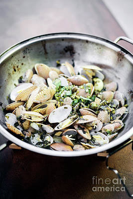 Moules Photograph - Steamed Fresh Moules Mussels In Garlic Lemon And Olive Oil by Jacek Malipan