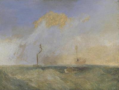 Temeraire Painting - Steamer And Lightship by Joseph Mallord William