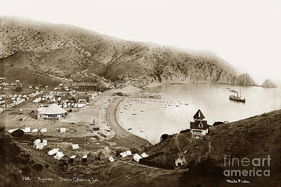 Photograph - Steamer Cabrillo In Avalon Harbor Santa Catalina Island Circa 18 by California Views Mr Pat Hathaway Archives