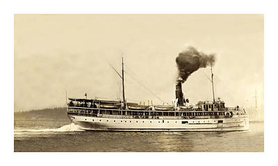 Photograph - Steamer  Indianapolis  by Jack Pumphrey