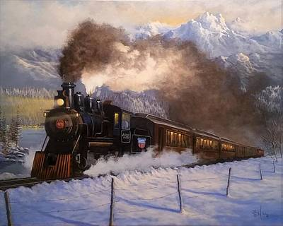 Painting - Steamin South by Paul K Hill