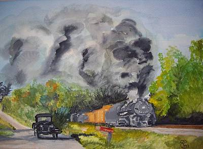 Steaming Along Art Print