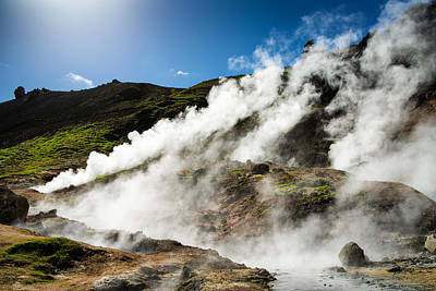 Photograph - Steaming Hot Springs In Reykjadalur Iceland by Matthias Hauser