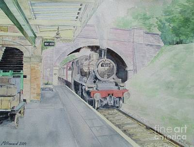 Newton Painting - Steaming Into Rothley by Martin Howard